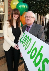 Lee-Jane Eastwood (Cré) and Padraic O'Neill (IrBEA) at the joint Biogas Manifesto launch on 12th November