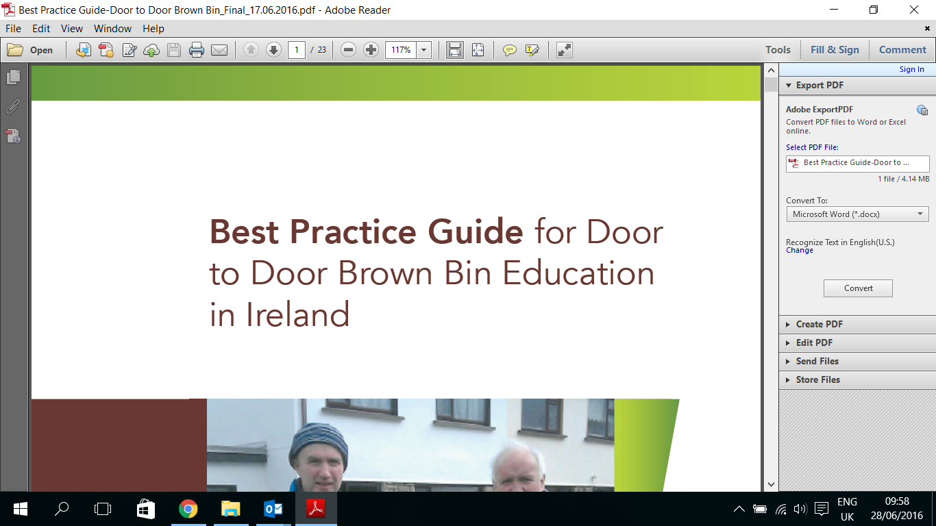 Best Practice Guide for Door to Door Brown Bin Education in Ireland